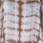 silk dress office brown detail